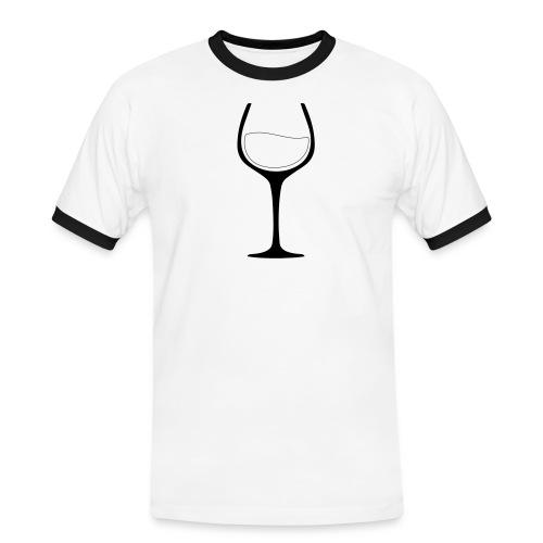 Lust auf Wein? - Männer Kontrast-T-Shirt