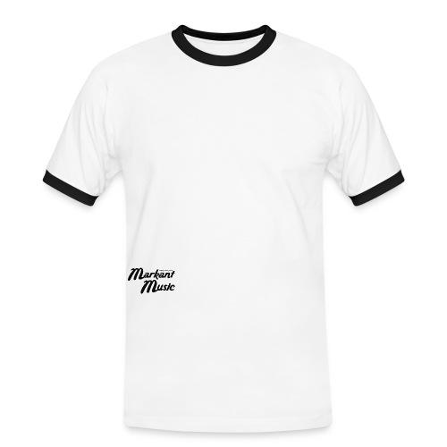 markant music schriftzug schwarz - Männer Kontrast-T-Shirt