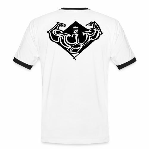 comet gym icon - Kontrast-T-shirt herr