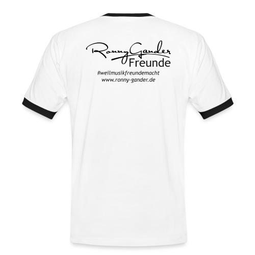 Ronny Gander Freunde - Männer Kontrast-T-Shirt