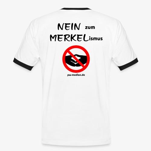 NEIN zum MERKELismus - Männer Kontrast-T-Shirt