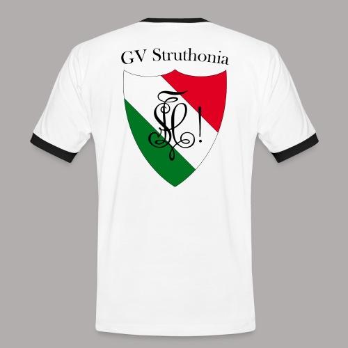 Wappen Struthonia beschriftet - Männer Kontrast-T-Shirt