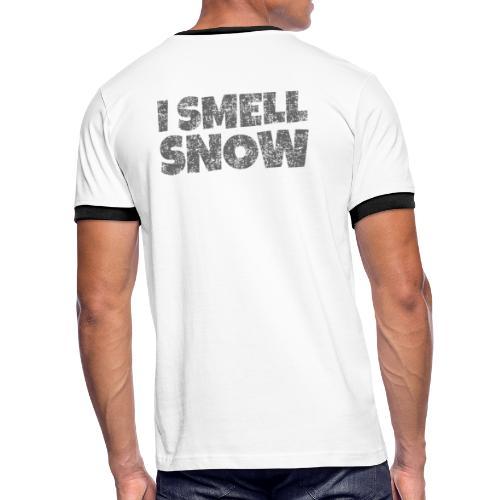 I Smell Snow (Dunkelgrau) Schnee, Wintersport, Ski - Männer Kontrast-T-Shirt