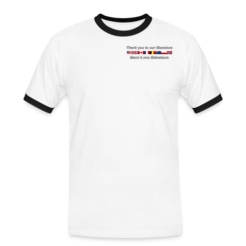 thank you to our liberators png - T-shirt contrasté Homme