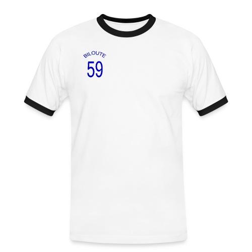 foot biloute 59 blanc trans - T-shirt contrasté Homme