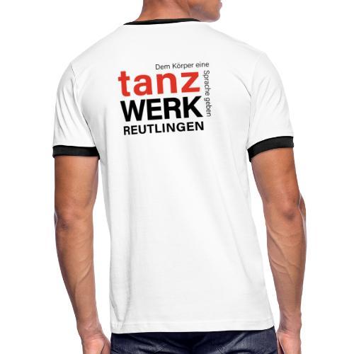 Tanzwerk - Standard - schwarz - Männer Kontrast-T-Shirt