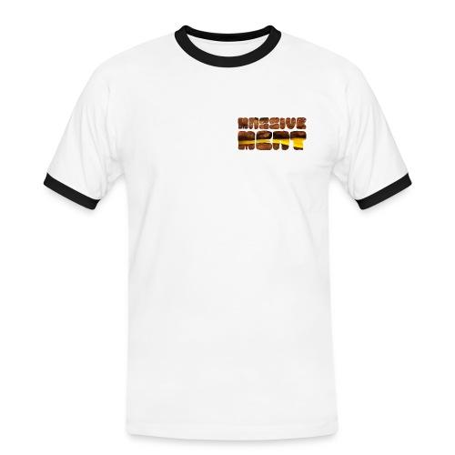 logotekst burger - Kontrast-T-skjorte for menn
