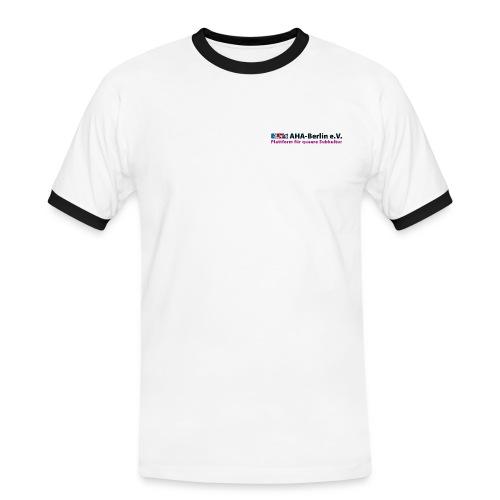 Logo Flach - Männer Kontrast-T-Shirt
