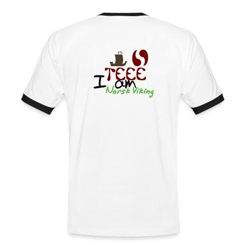 test - Kontrast-T-skjorte for menn