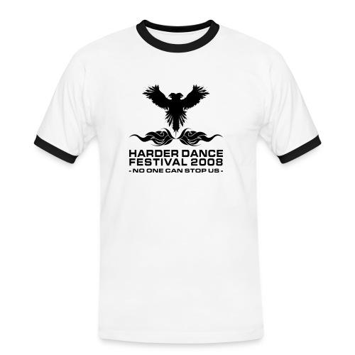 shirtfrontblack - Männer Kontrast-T-Shirt