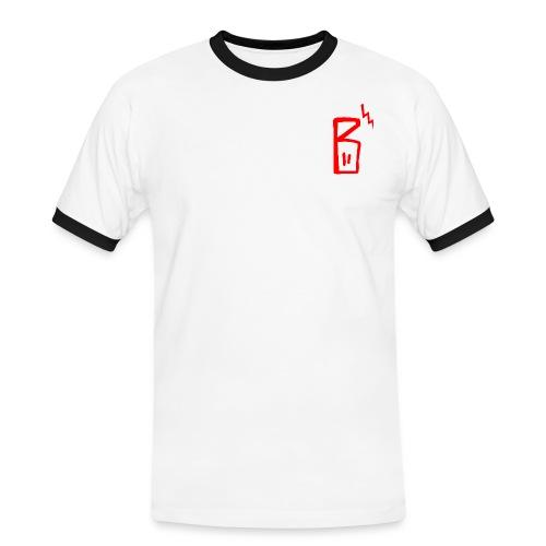 b logo jpg - Männer Kontrast-T-Shirt