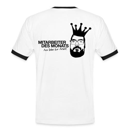 Mitarbeiter des Monats - Männer Kontrast-T-Shirt