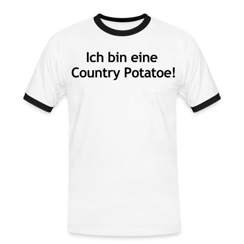 MFF Spruch 1 Vorne - Männer Kontrast-T-Shirt