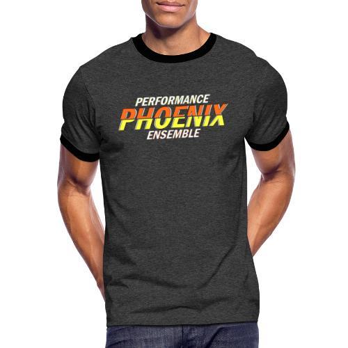 Phoenix Distorted Yellow - Männer Kontrast-T-Shirt