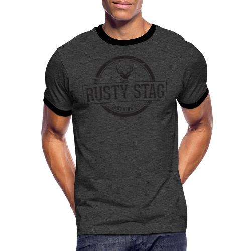 Rusty Stag Weathered Crest - Men's Ringer Shirt