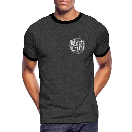 Berncity Typo 01 white edition - Männer Kontrast-T-Shirt
