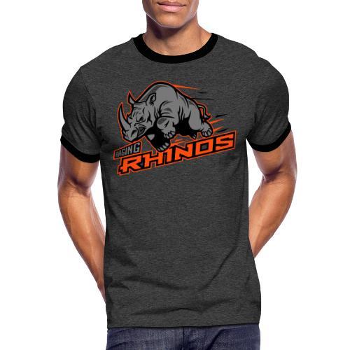 Raging Rhinos - Männer Kontrast-T-Shirt