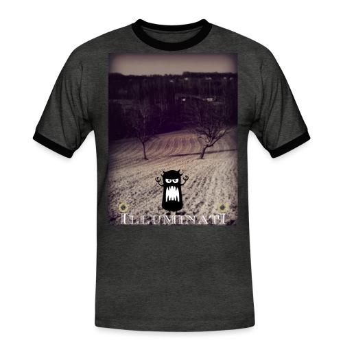 illuminati - T-shirt contrasté Homme