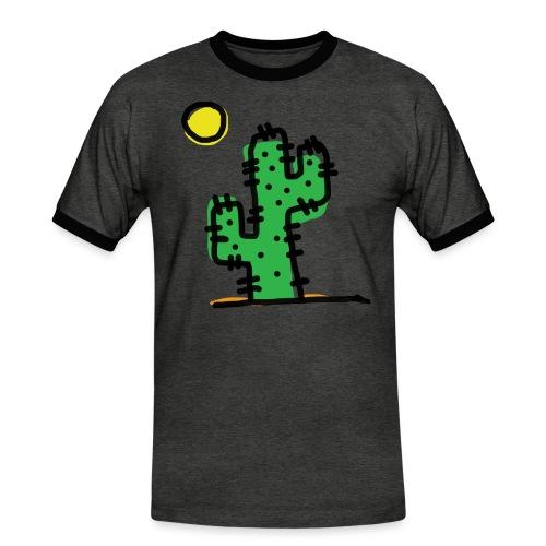 Cactus single - Maglietta Contrast da uomo