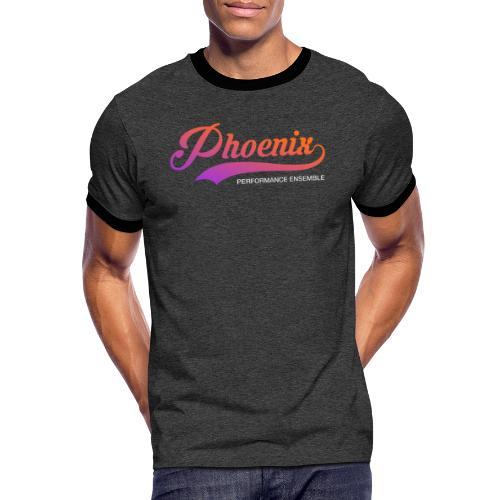 Phoenix Retro Color - Männer Kontrast-T-Shirt