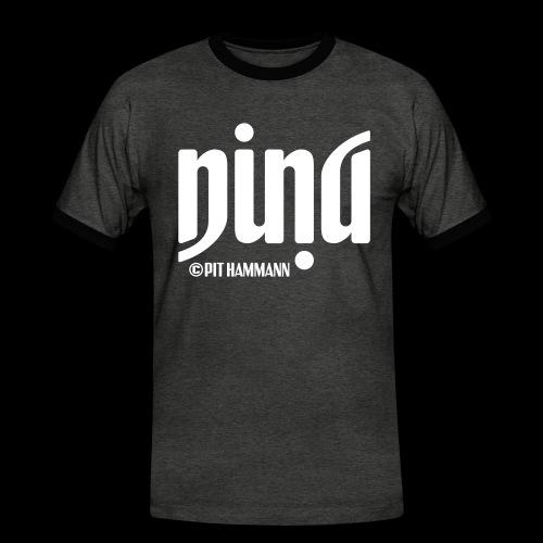 Ambigramm Nina 01 Pit Hammann - Männer Kontrast-T-Shirt