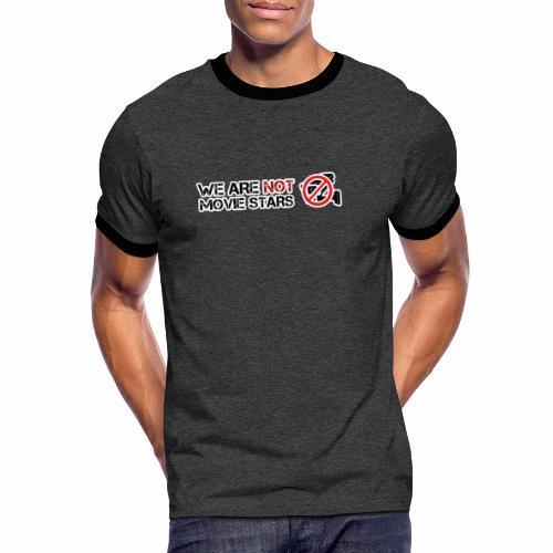 Nous ne sommes pas des stars de cinéma - T-shirt contrasté Homme