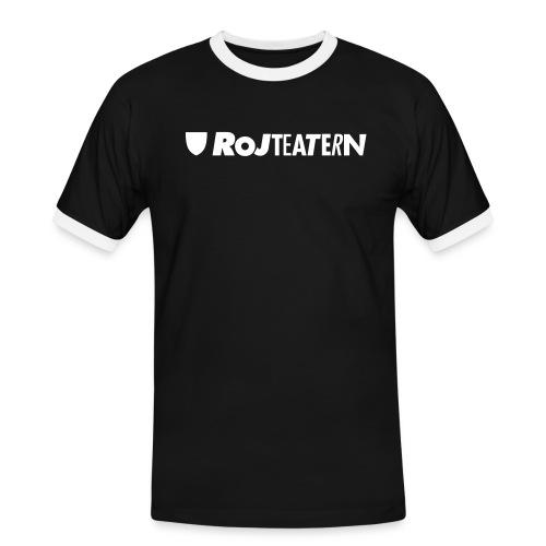 RoJteatern_logo_SV_vertik - Kontrast-T-shirt herr