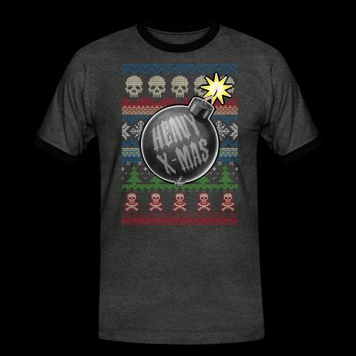 Heavy X-Mas Christbaumkugel-Bombe - Männer Kontrast-T-Shirt