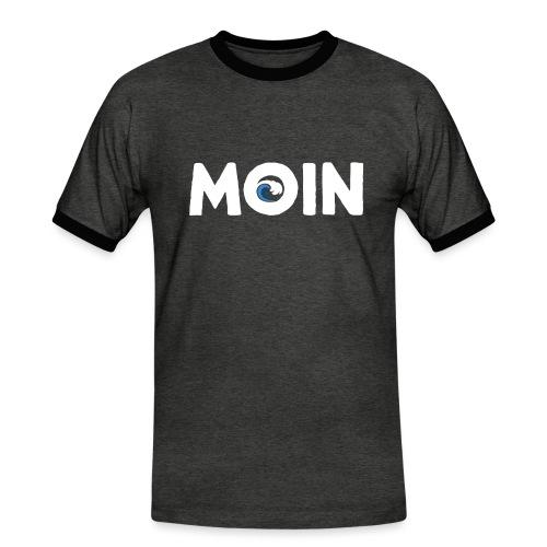 Moin Welle Ahoi Meer maritim Geschenk - Männer Kontrast-T-Shirt