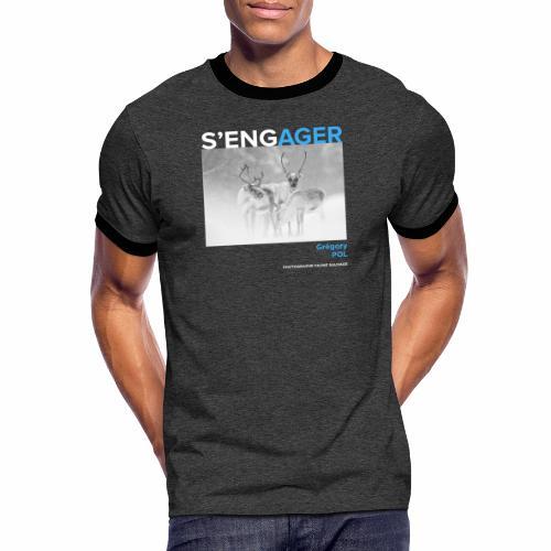 1 Achat = 1 Don au Centre de soin LPO Aquitaine - T-shirt contrasté Homme