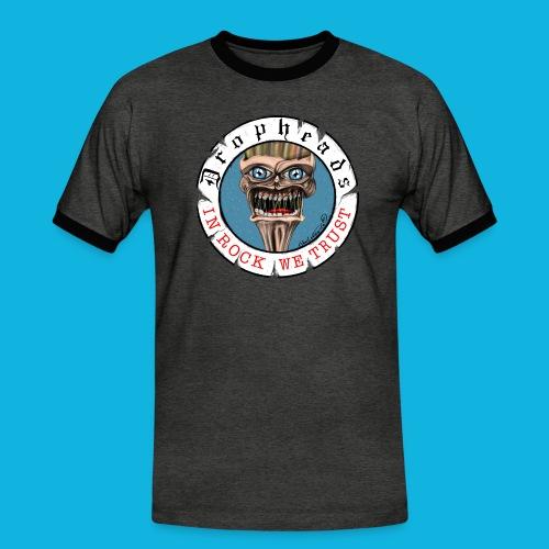 drophead aufkleber - Männer Kontrast-T-Shirt