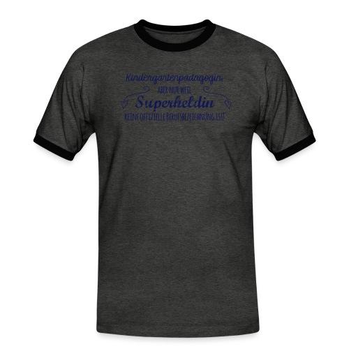 Stoffbeutel: Kindergartenpädagogin - Männer Kontrast-T-Shirt
