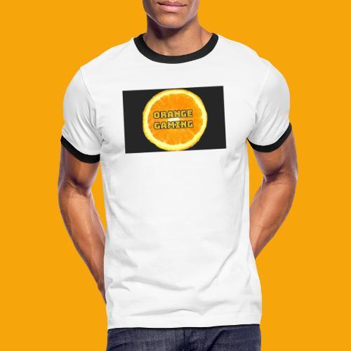 Orange_Logo_Black - Men's Ringer Shirt