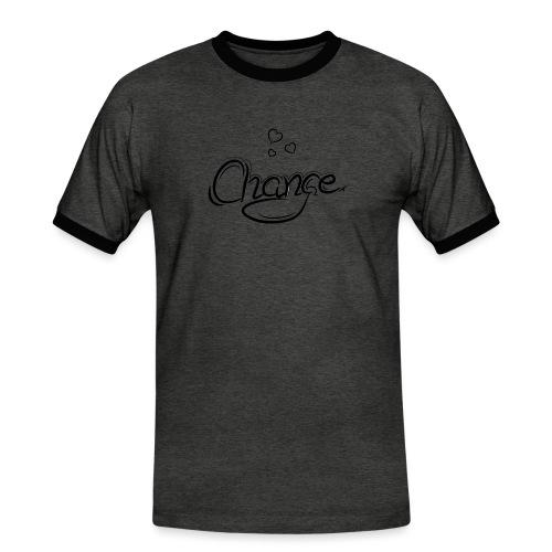Änderung der Merch - Männer Kontrast-T-Shirt