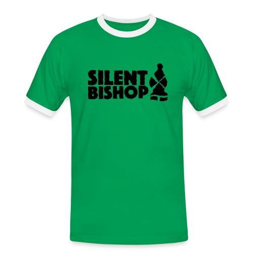 Silent Bishop Logo Groot - Mannen contrastshirt