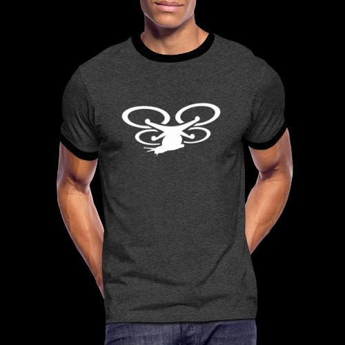 Einseitig bedruckt - Männer Kontrast-T-Shirt