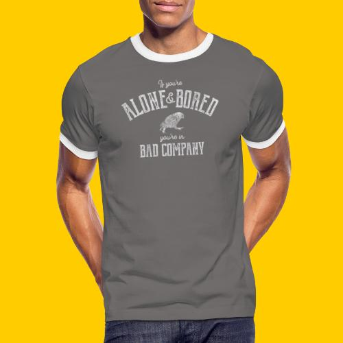 Alone and bored - Kontrast-T-shirt herr