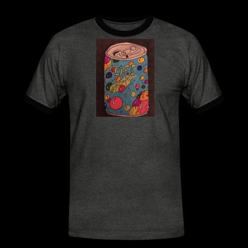 7AABC614 53CA 4156 B765 D9FBF5B8E496 - Herre kontrast-T-shirt