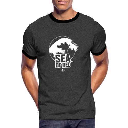 Sea of red logo - white - Men's Ringer Shirt