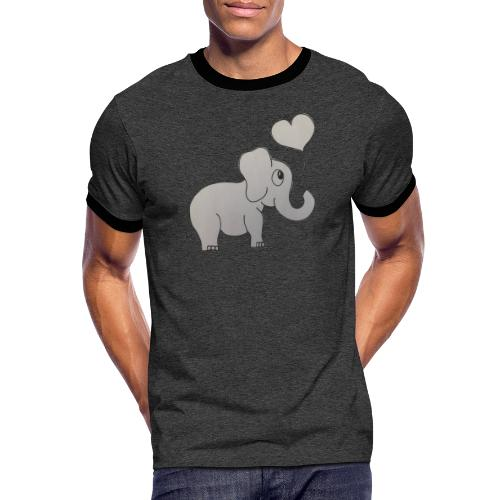 LackyElephant - Männer Kontrast-T-Shirt