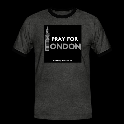 PRAY FOR LONDON - T-shirt contrasté Homme