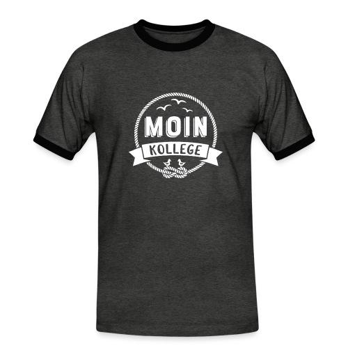 Moin Kollege Geschenk für Strandliebhaber - Männer Kontrast-T-Shirt
