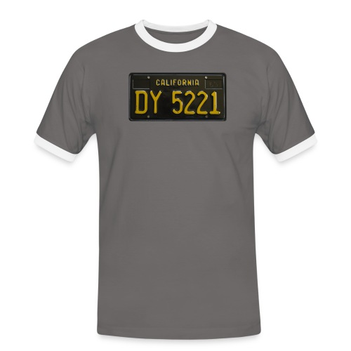 CALIFORNIA BLACK LICENCE PLATE - Men's Ringer Shirt