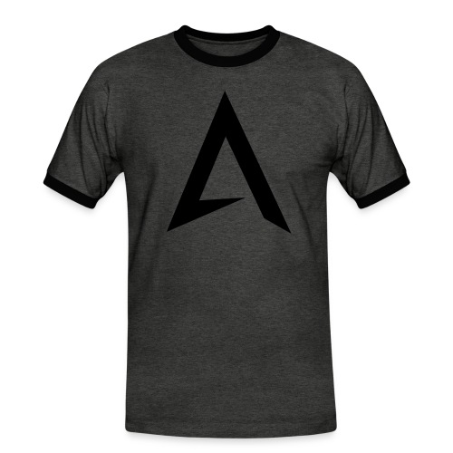 alpharock A logo - Men's Ringer Shirt