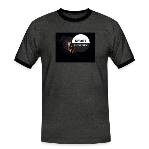 KeMoT odzież limitowana edycja - Koszulka męska z kontrastowymi wstawkami