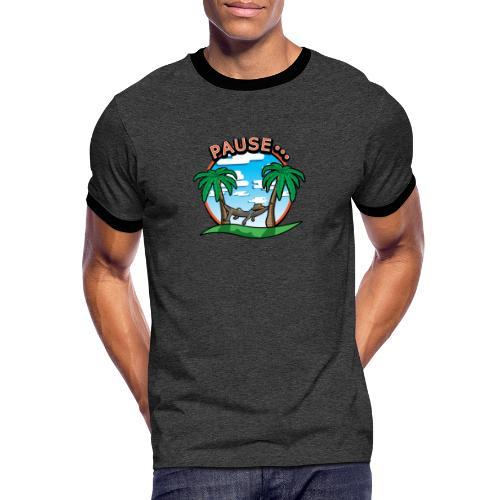 PAUSE ...... - T-shirt contrasté Homme