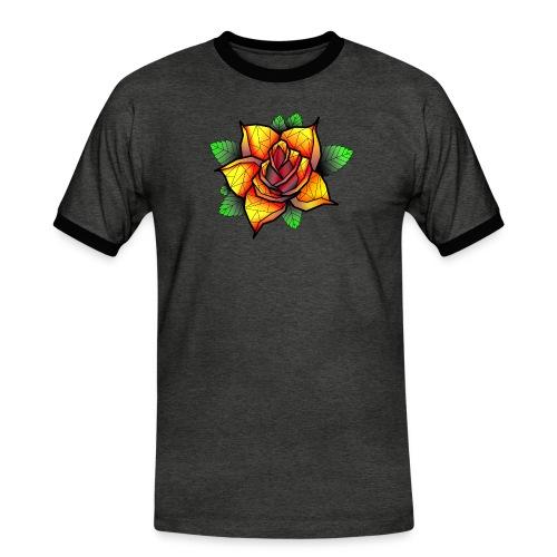 rose - T-shirt contrasté Homme