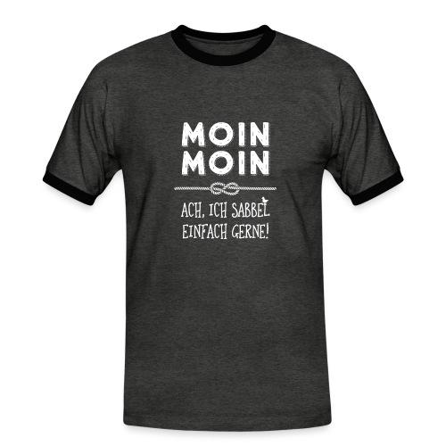 Moin - plattdeutscher norddeutscher Spruch - Männer Kontrast-T-Shirt