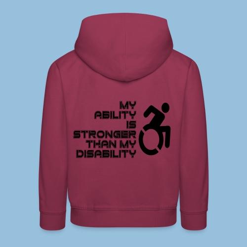 Ability1 - Kinderen trui Premium met capuchon