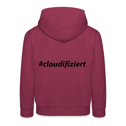 #cloudifiziert black - Kinder Premium Hoodie